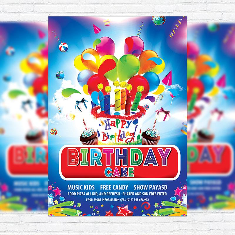 Cake Flyer Template Free Psd