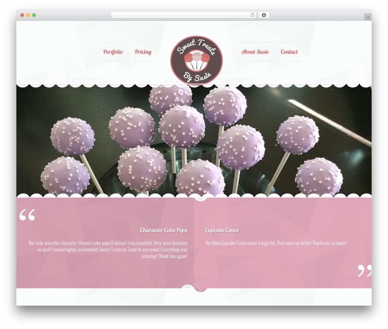Cake Website Template WordPress