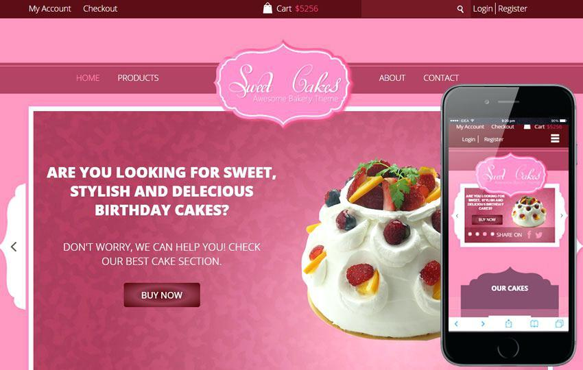 Cake Website Template