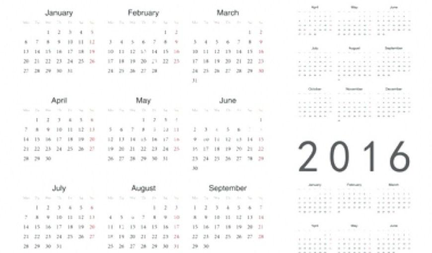Calendar At A Glance Template
