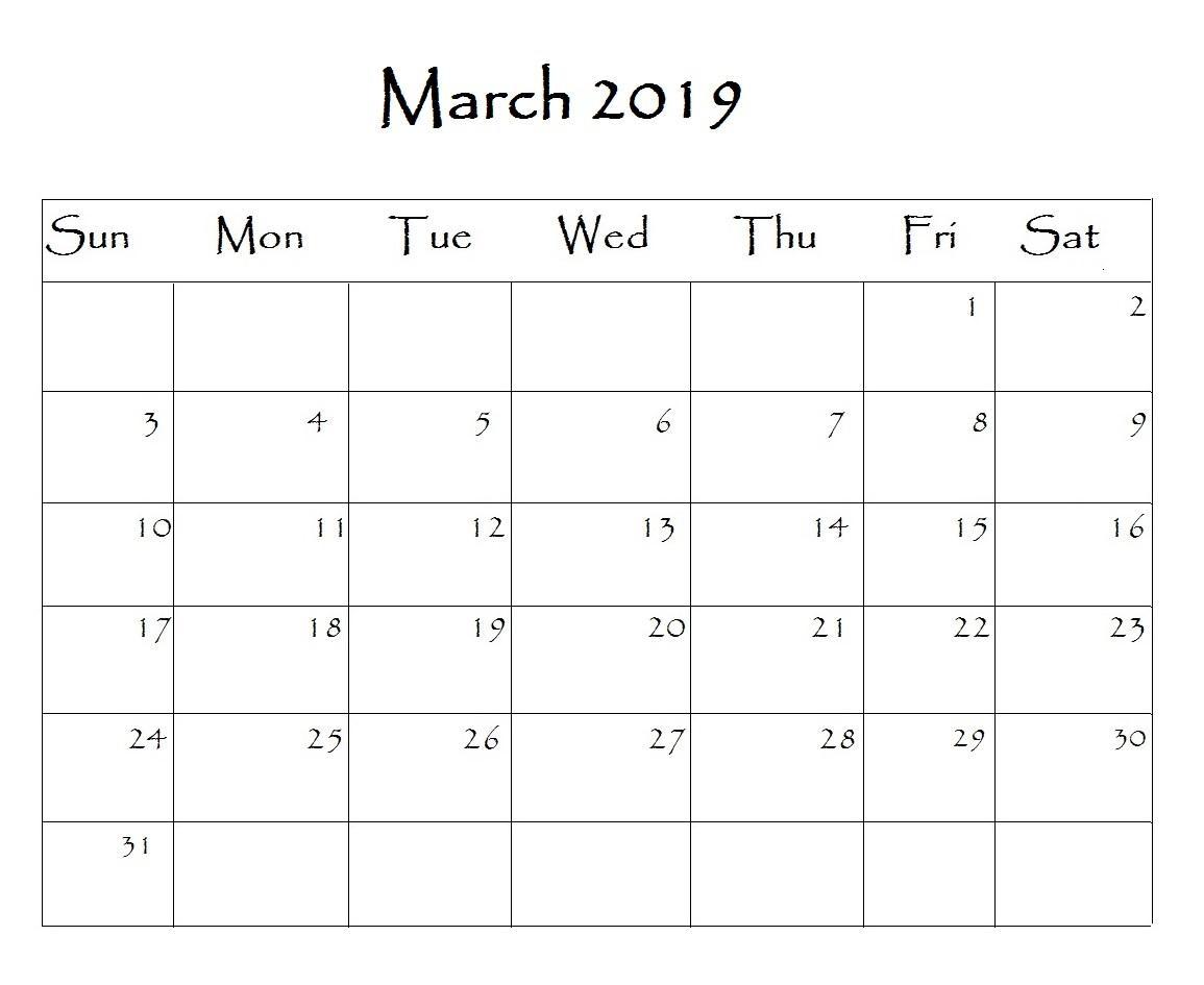 Calendar Editable Template