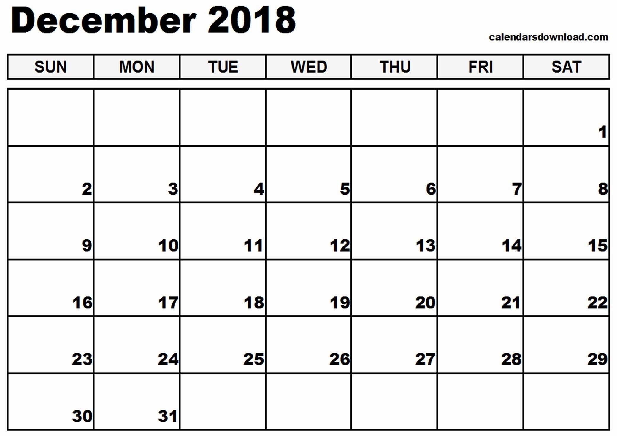 Calendar Planner Template 2018