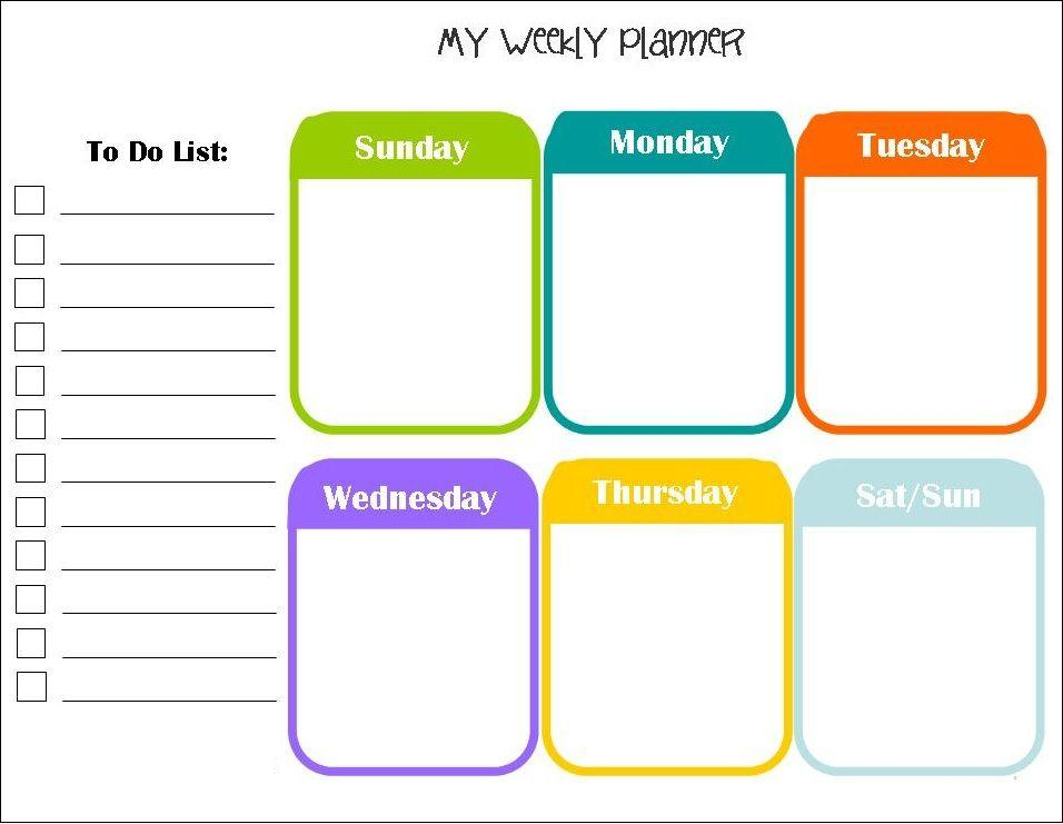 Calendar Planner Template Download
