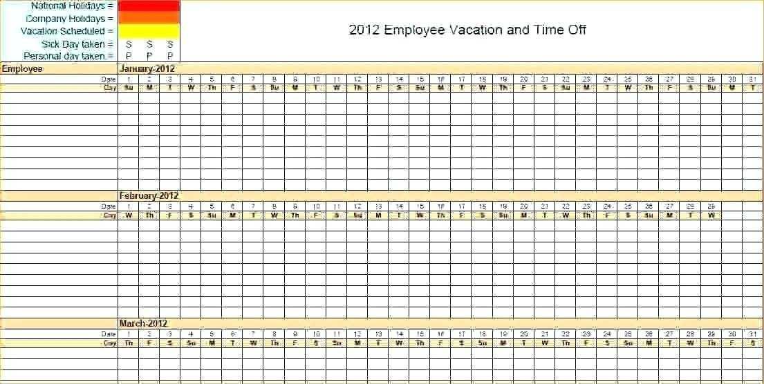 Calendar Schedule Template 2018 Excel