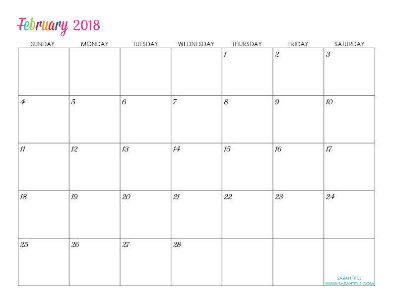 Calendar Template Editable Free