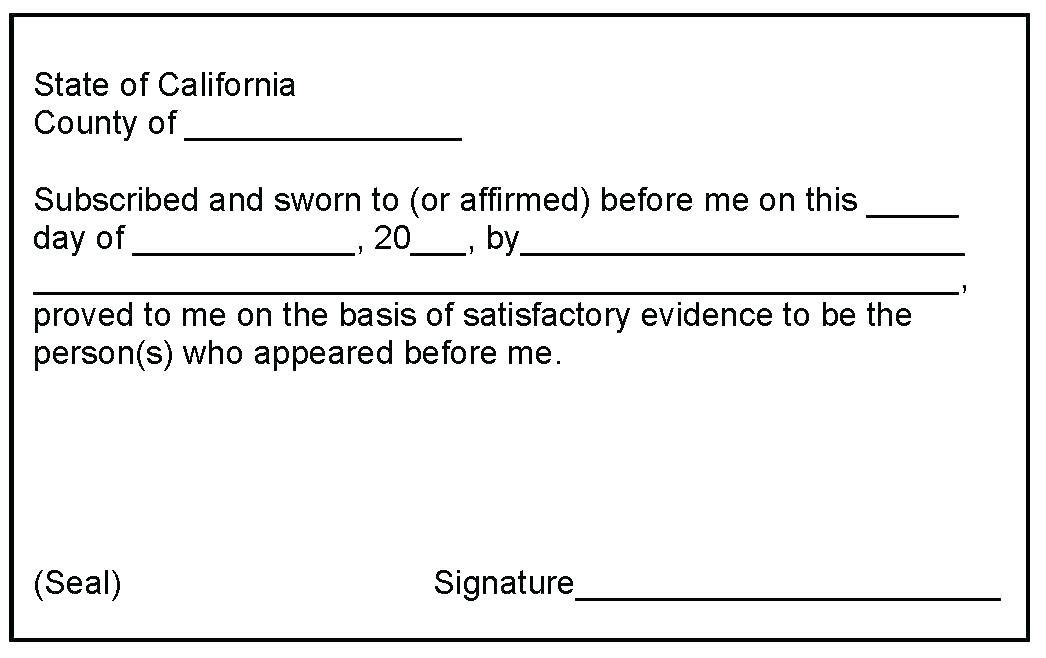 California Notary Seal Template
