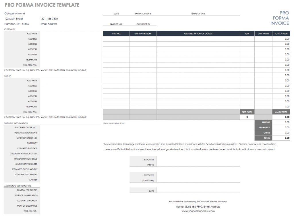 Canadian Invoice Template With Gst