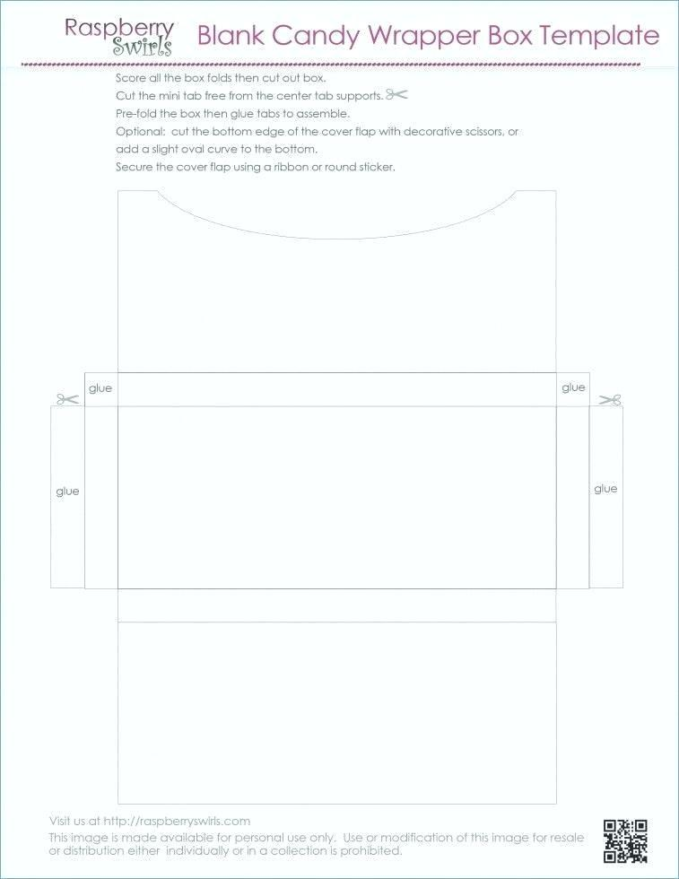 Candy Bar Wrapper Template Measurements