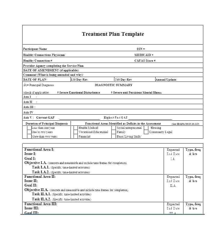 Capital Blue Physical Therapy Treatment Plan Form