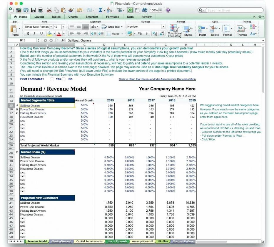Capital Investment Plan Template