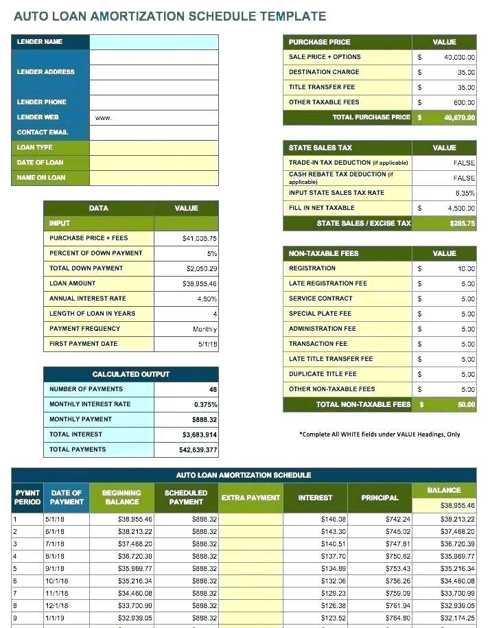 Capital Lease Template Excel