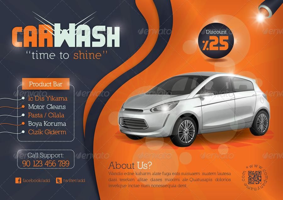 Car Cleaning Flyer Templates