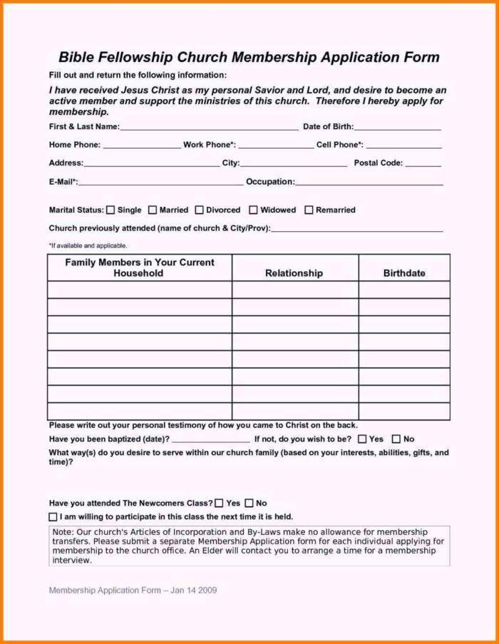 Car Club Membership Application Form Template