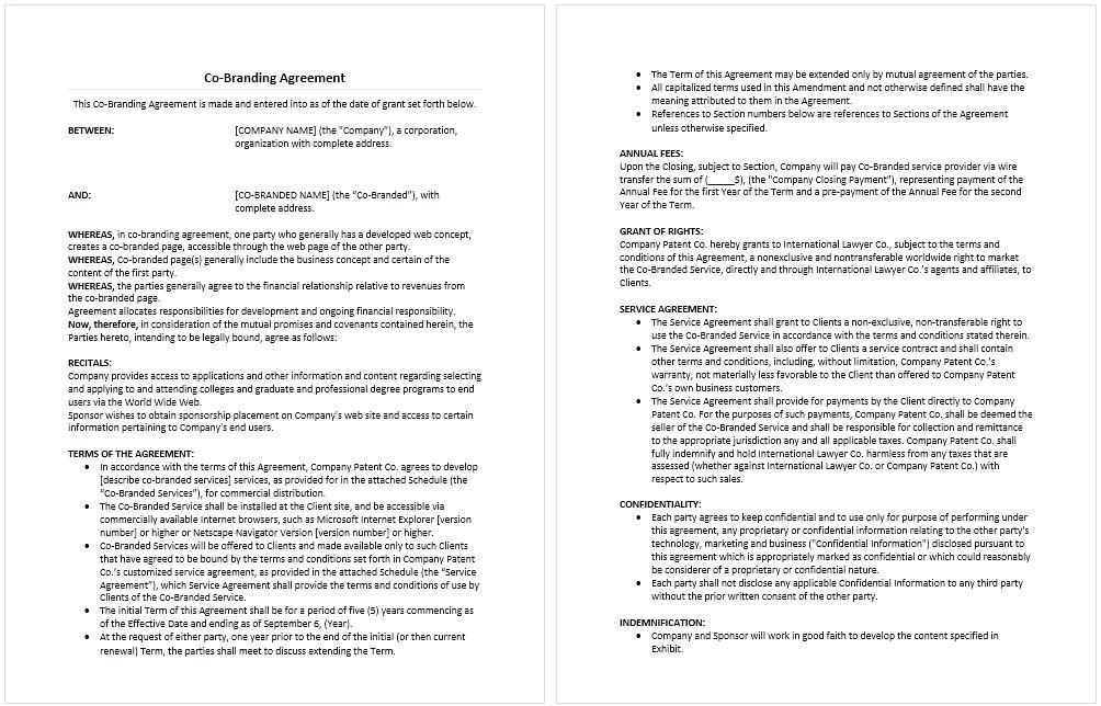 Car Leasing Agreement Template