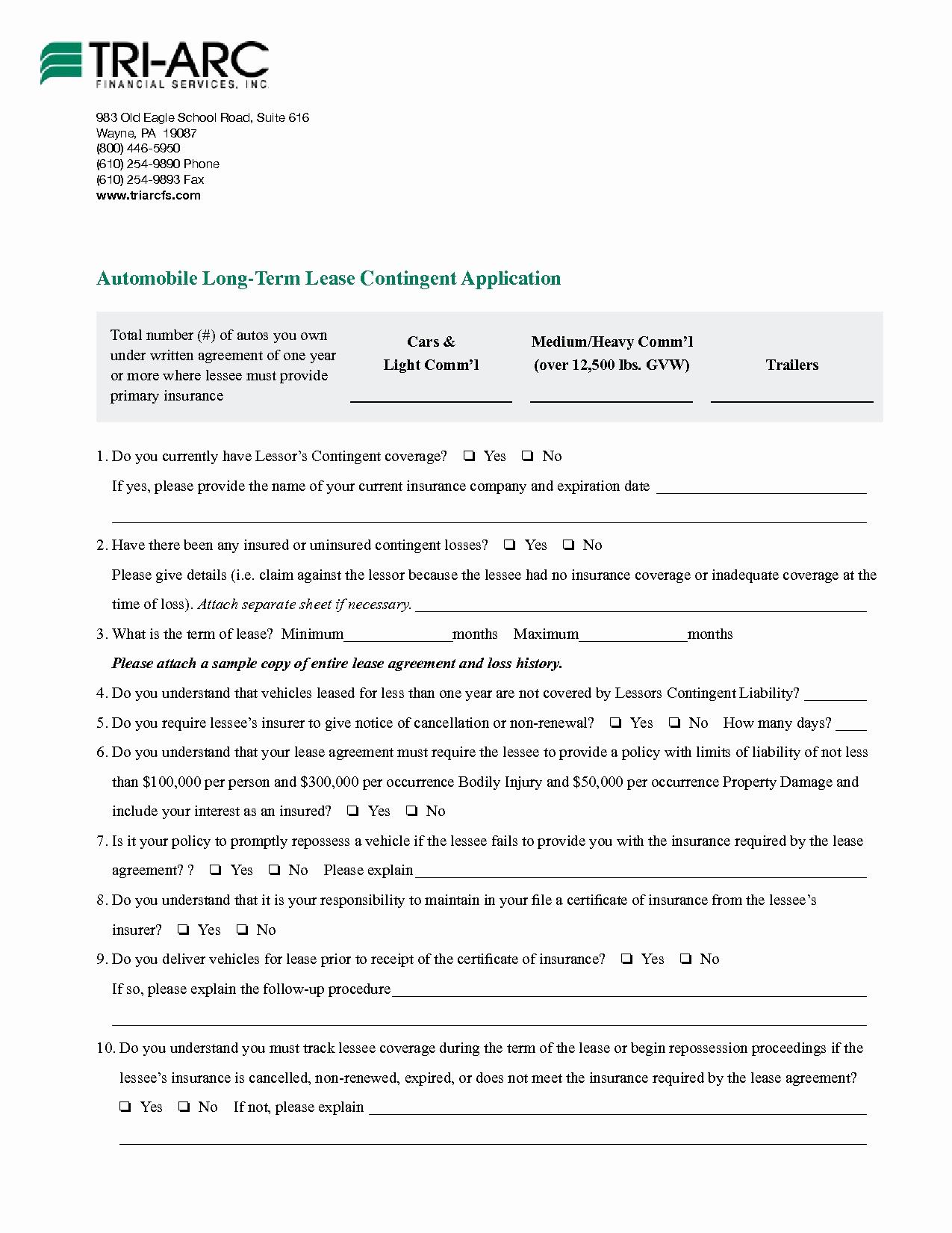 Car Leasing Contract Template