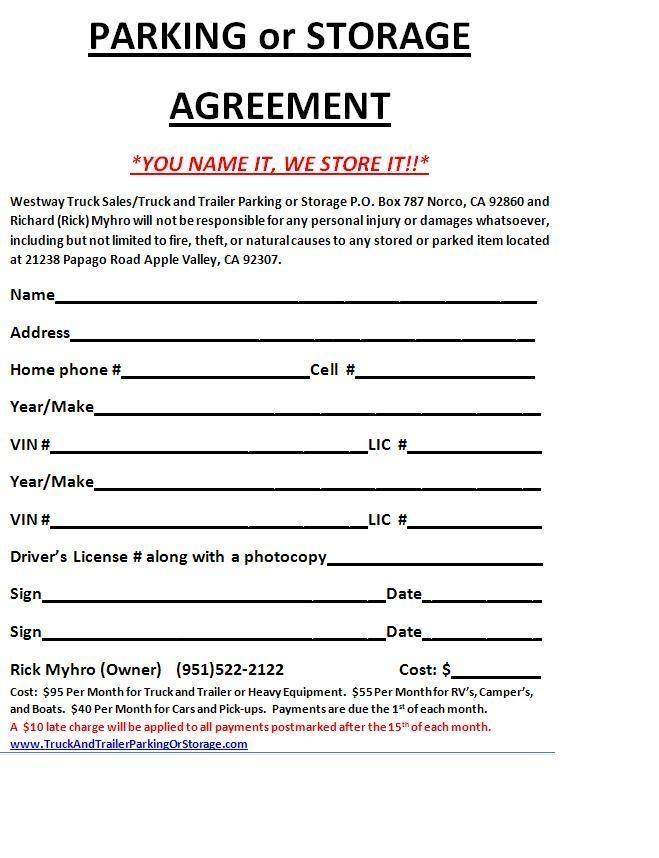 Car Repair Agreement Template