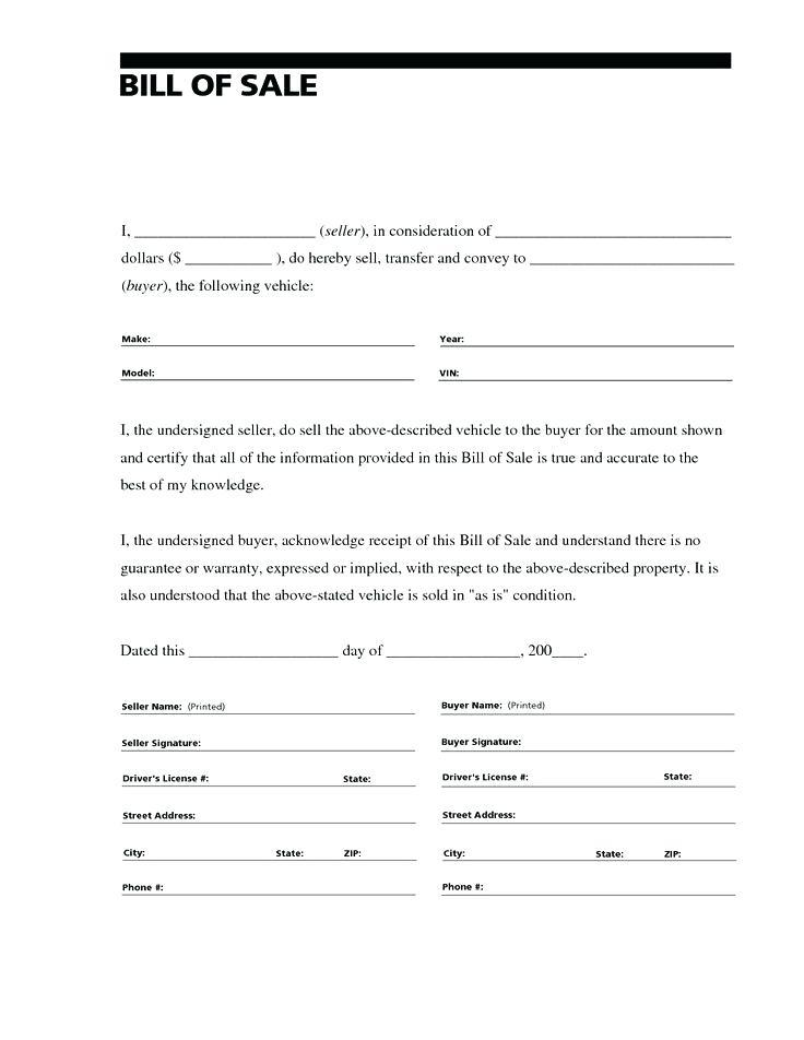 Car Sales Agreement Template Free