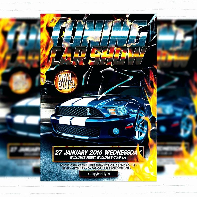 Car Show Flyer Template Free Download