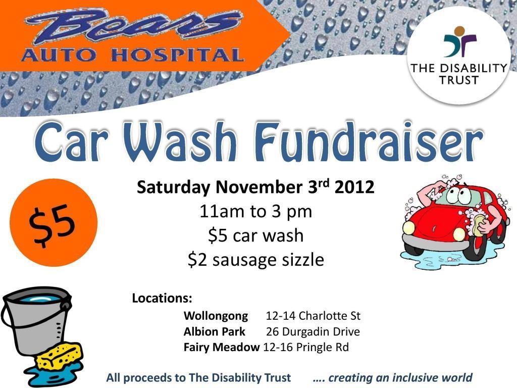 Car Wash Fundraiser Tickets Template