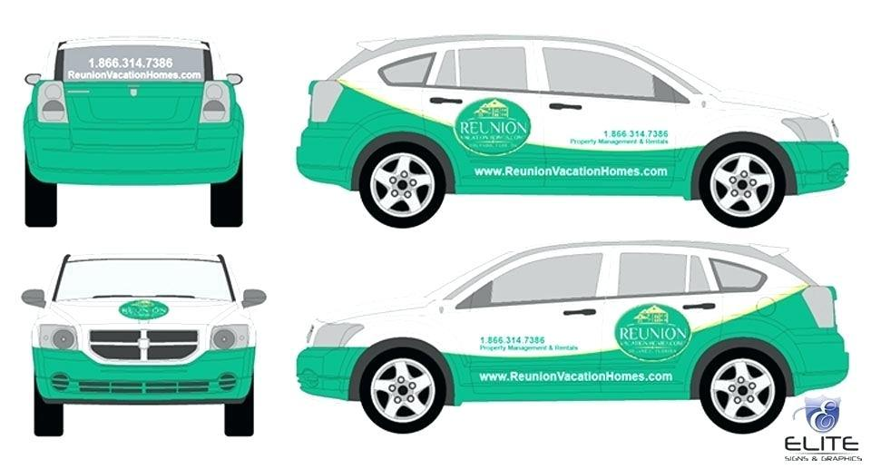 Car Wrap Template Photoshop