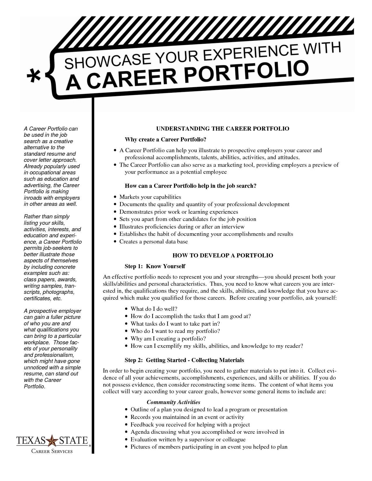 Career Portfolio Templates