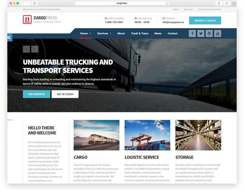 Cargo Company Website Templates