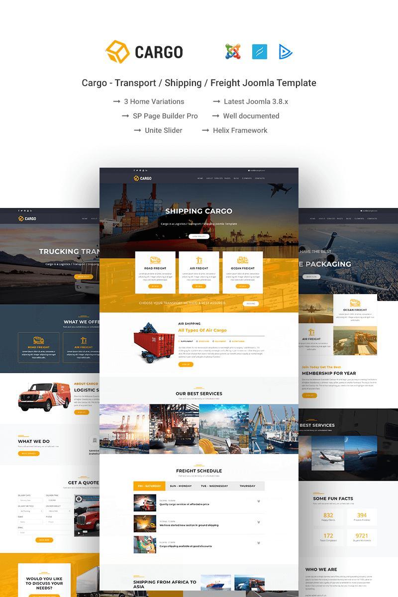 Cargo Shipping Website Templates