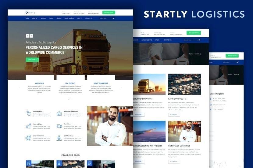 Cargo Tracking Website Templates