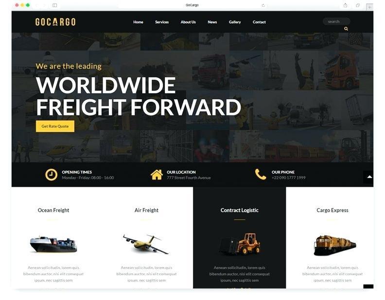 Cargo Website Templates Free