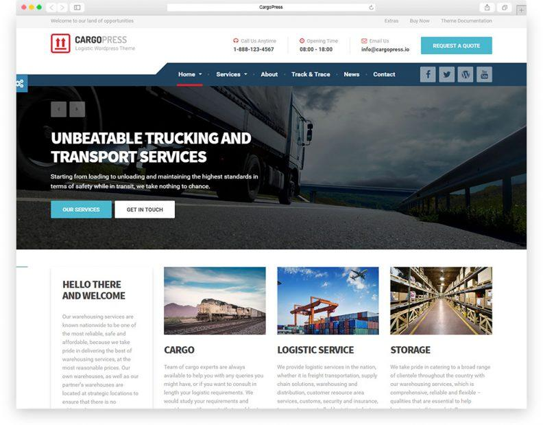 Cargo Website Templates