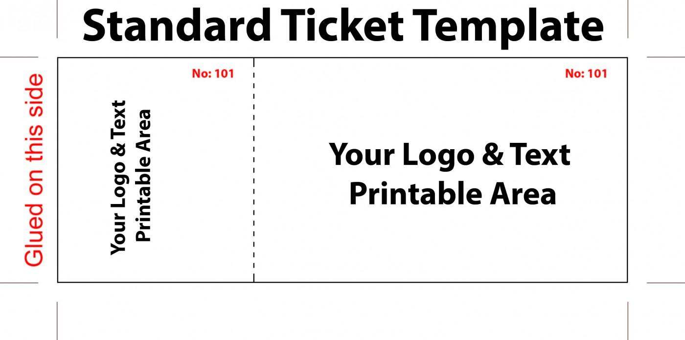 Carnival Game Ticket Template
