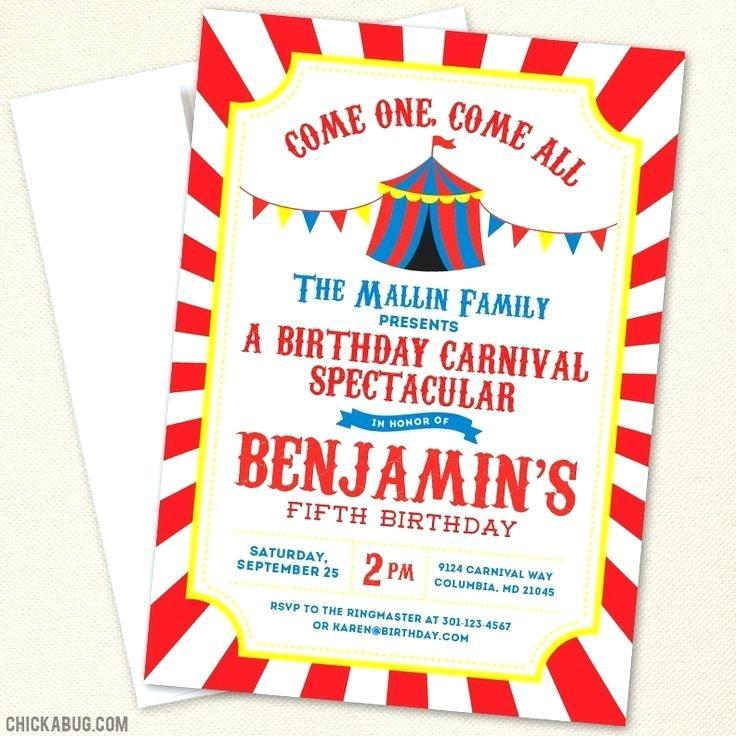 Carnival Party Invitation Templates Free