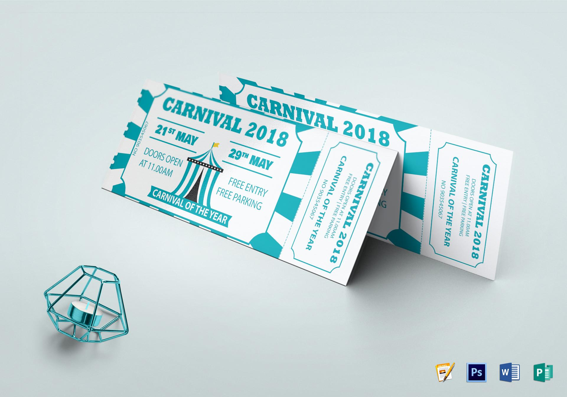 Carnival Ticket Design Template