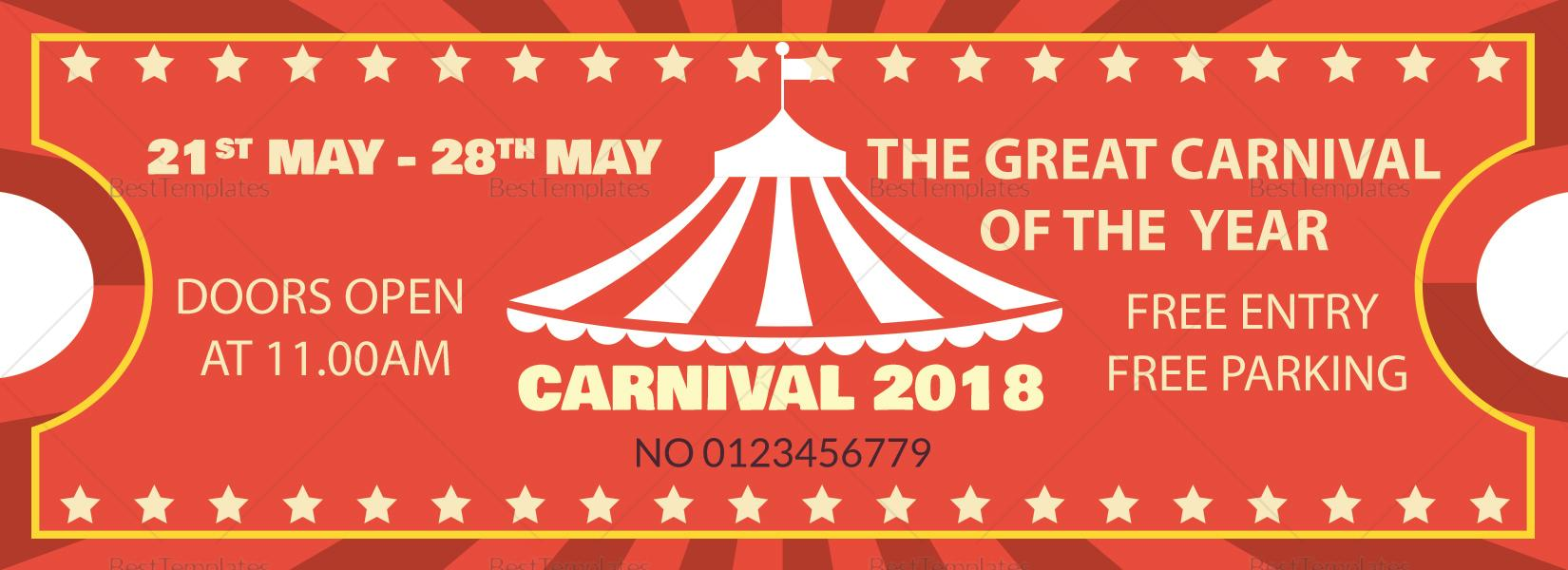 Carnival Ticket Printable