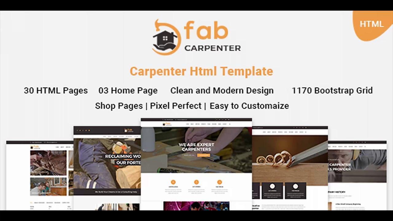 Carpentry Website Templates