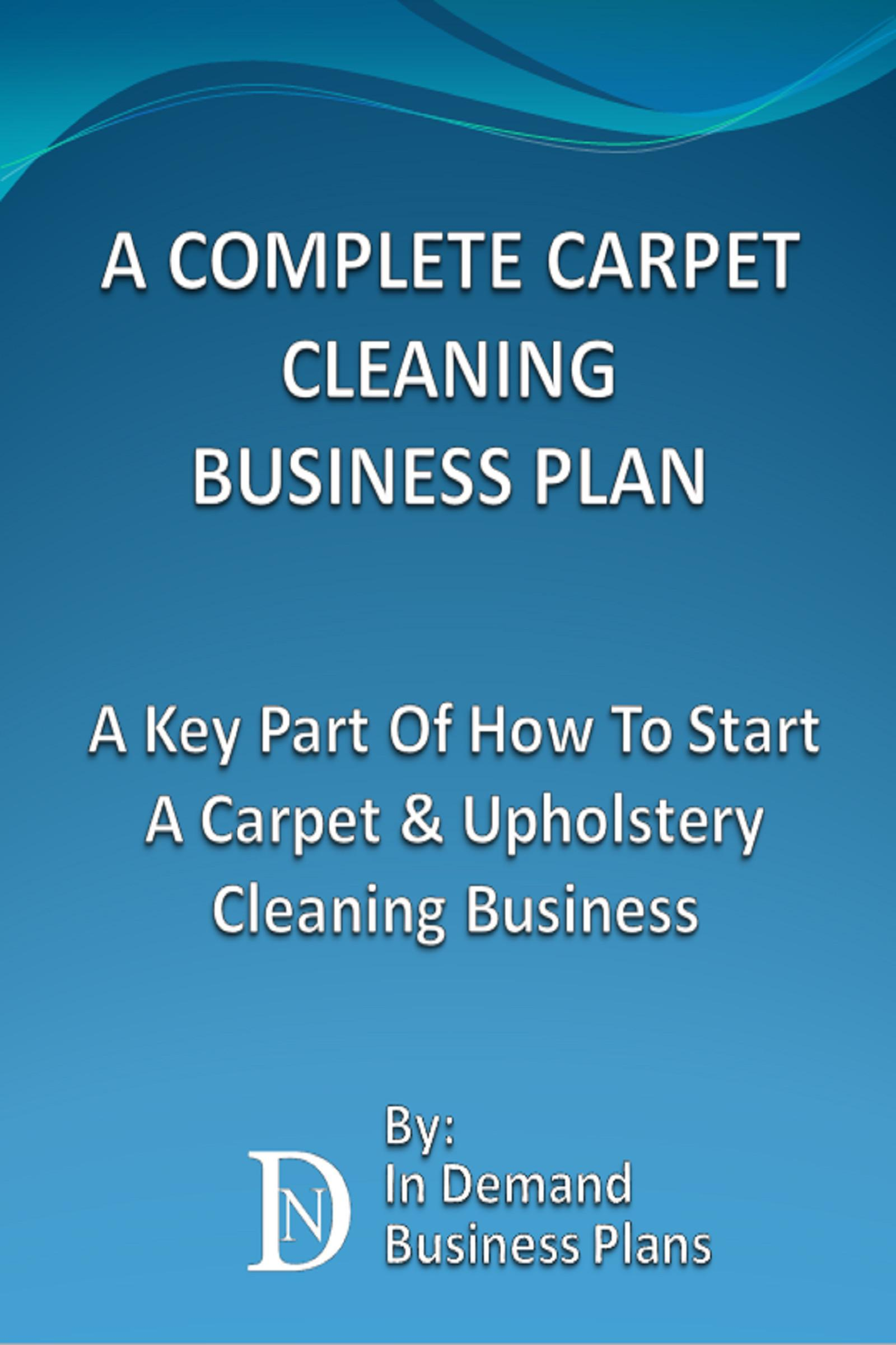 Carpet Cleaning Business Plan Examples