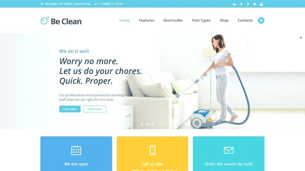 Carpet Cleaning Website Template WordPress