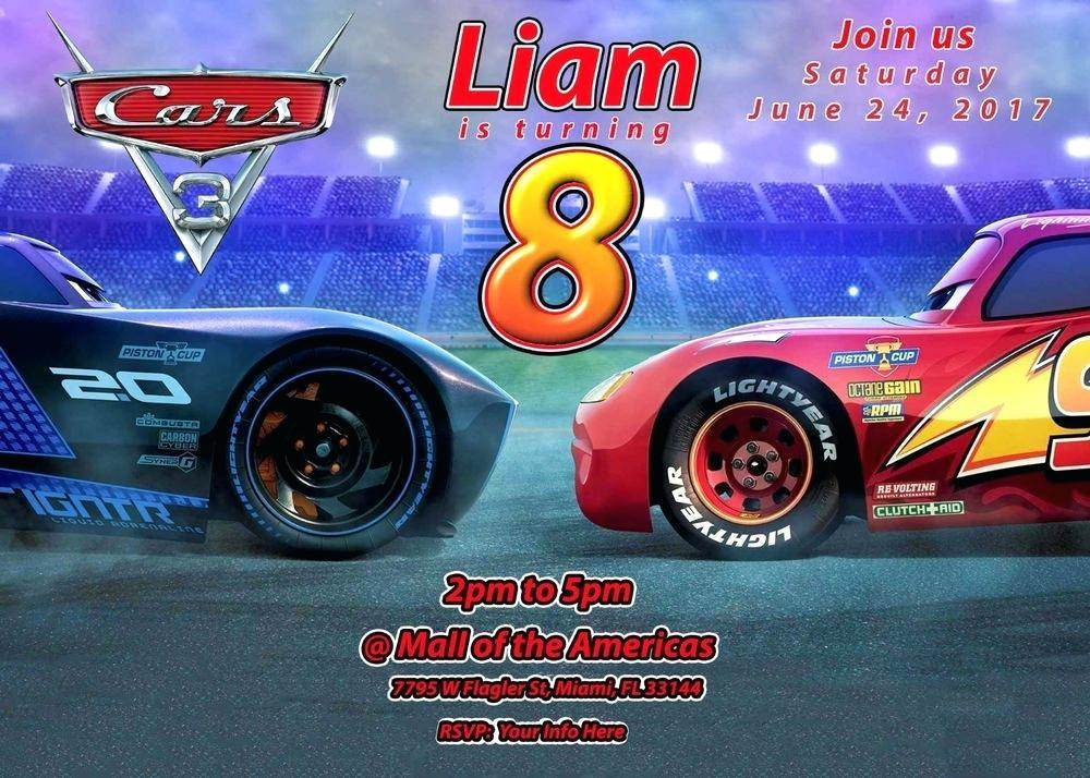 Cars 3 Birthday Invitation Template