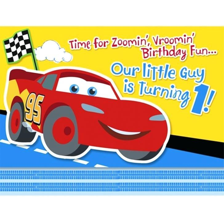 Cars Blank Template Birthday Invitation