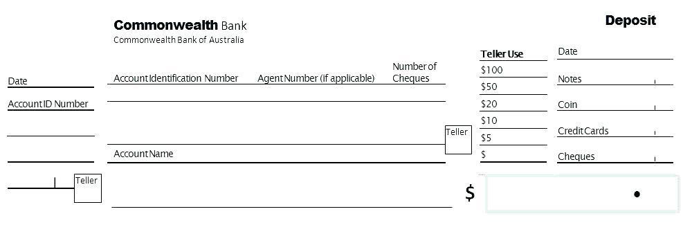 Cash Deposit Slip Template Excel