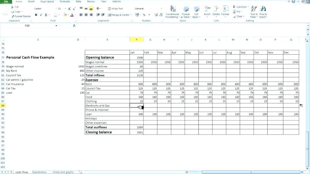 Cash Flow Forecast Template Free Download