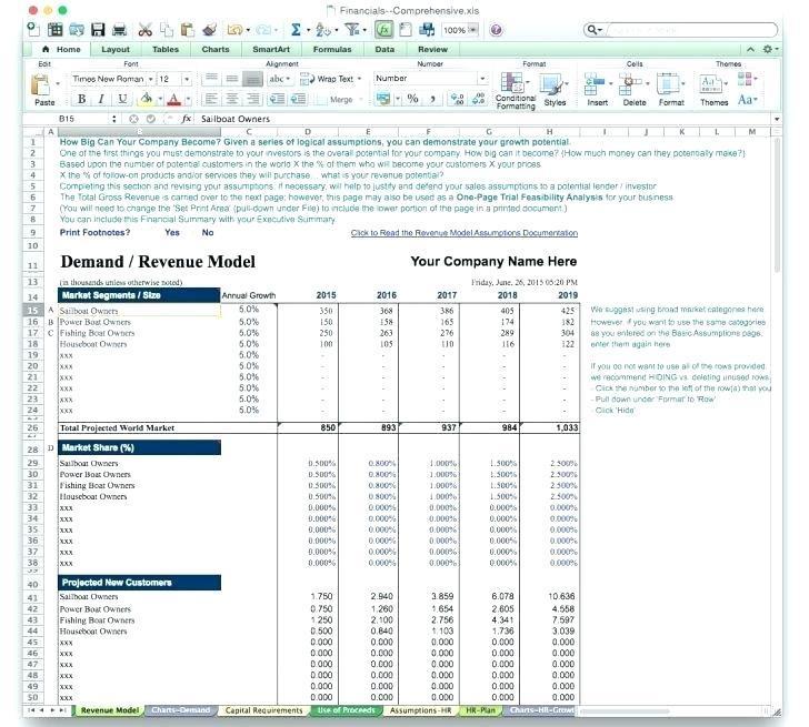 Cash Flow Projection Template Construction