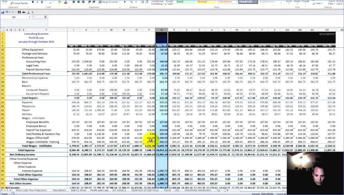 Cash Forecasting Template