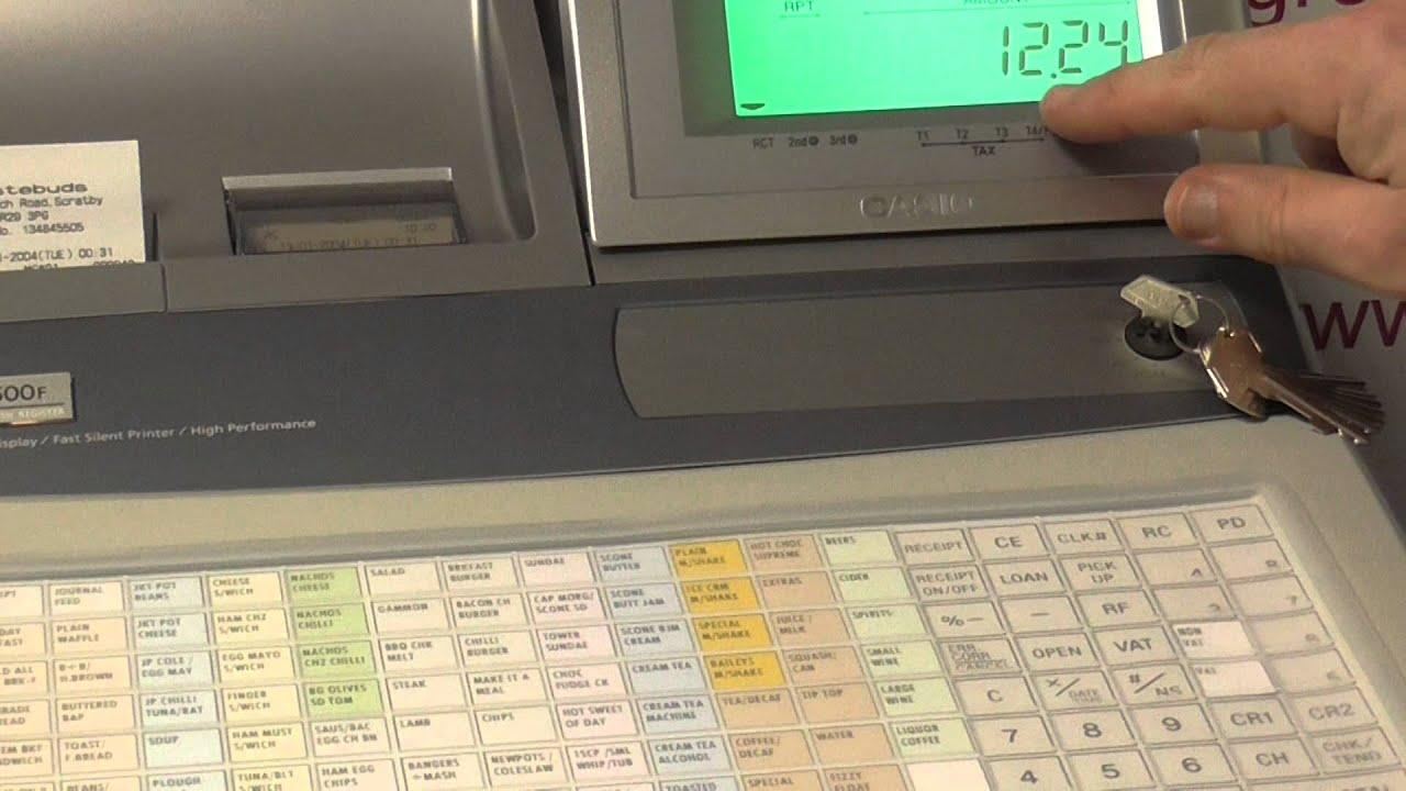 Cash Register Keyboard Template Casio