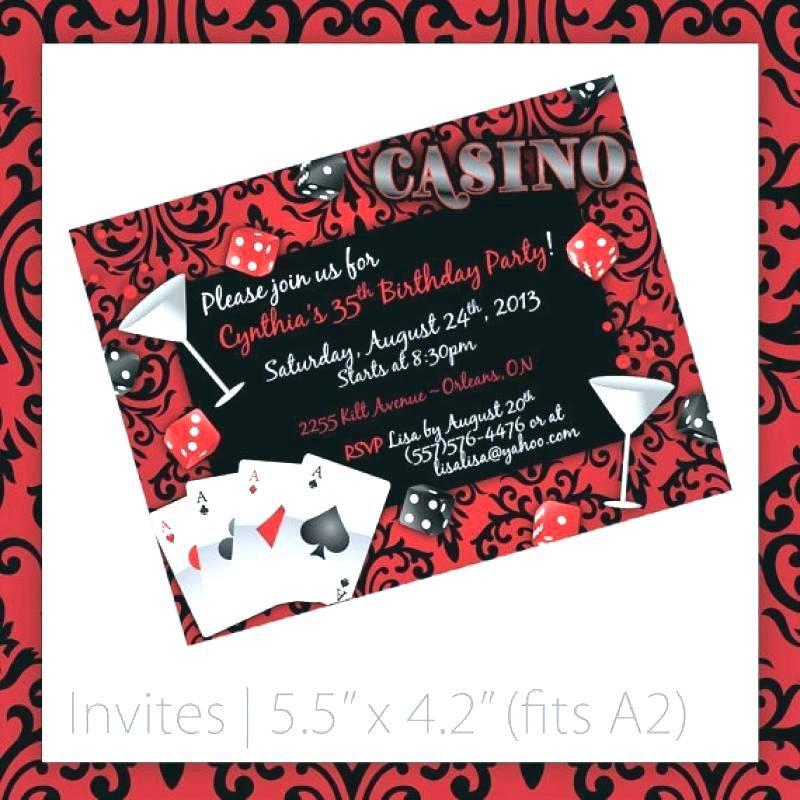 Casino Theme Party Invitations Template Free