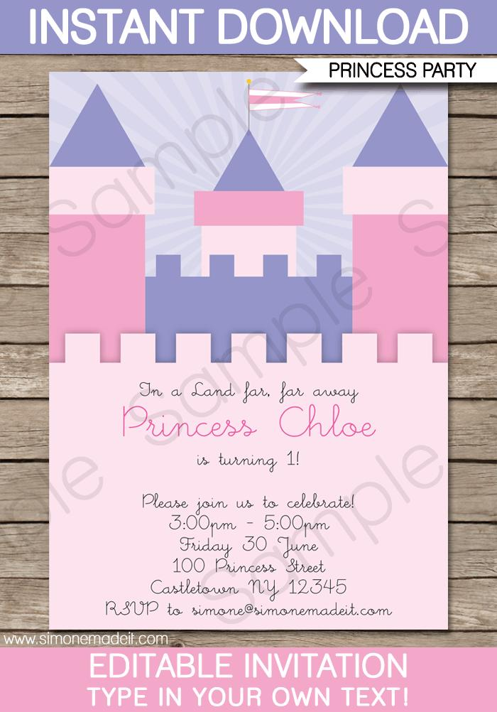 Castle Party Invitation Template