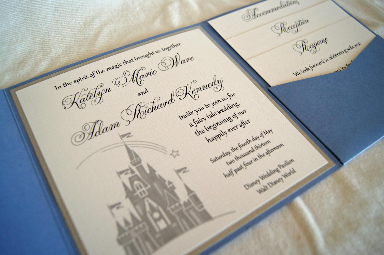 Castle Wedding Invitation Template