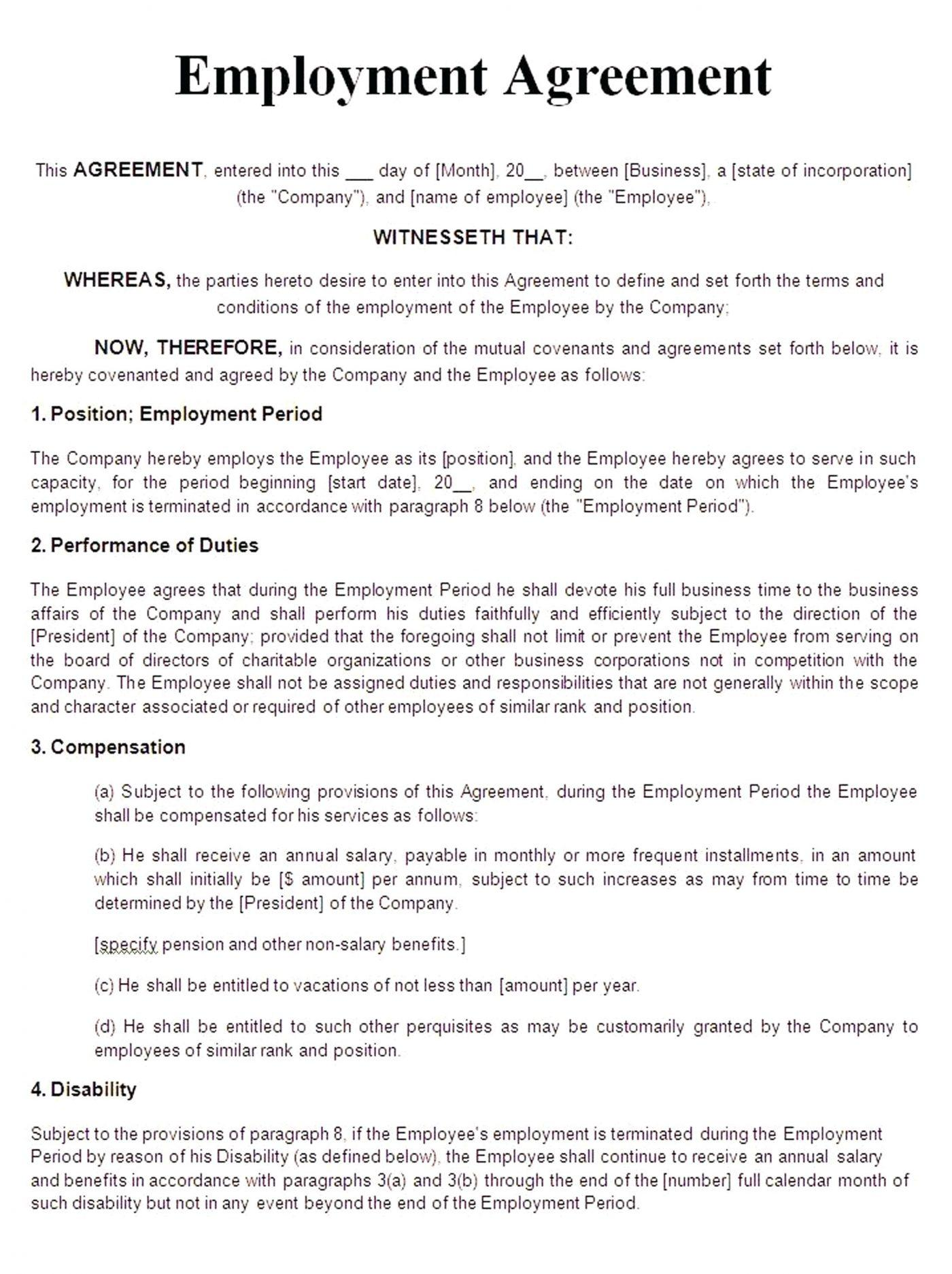 Casual Employment Contract Template Au