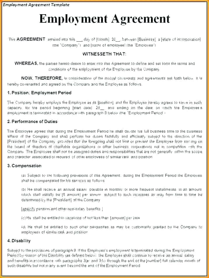 Casual Employment Contract Template Free Download