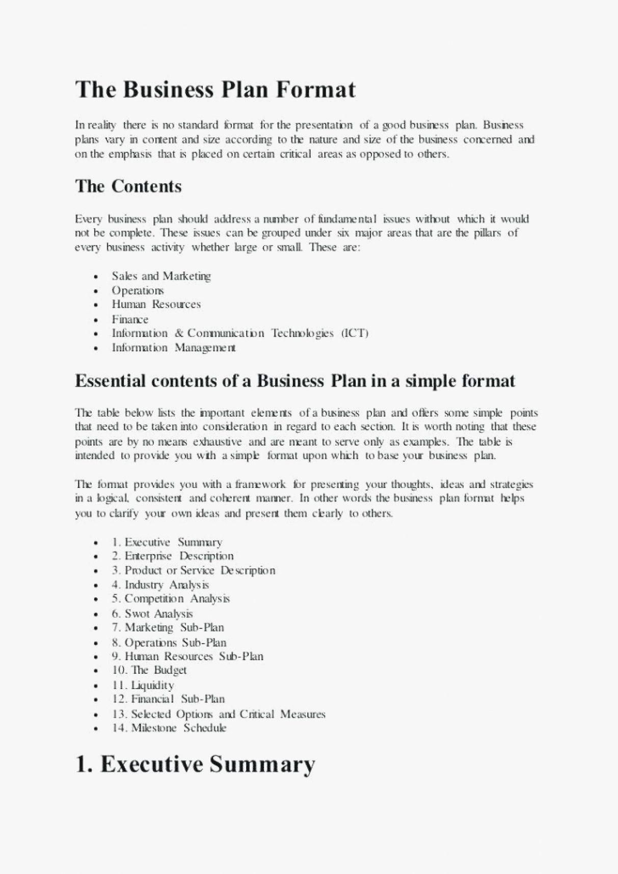 Catering Business Plan Template Pdf